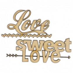 Napis ze sklejki Love Sweet...
