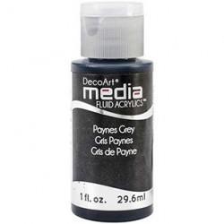 Fluid akrylowy DecoArt, Paynes Grey - ciemny szary, DMFA20