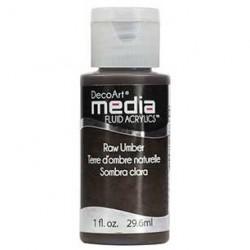 Fluid akrylowy DecoArt, Raw Umber - umbra surowa DMFA37