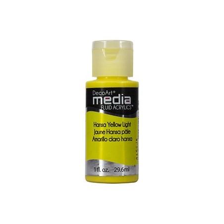 Fluid akrylowy DecoArt, Hansa Yellow Light [DMFA16]