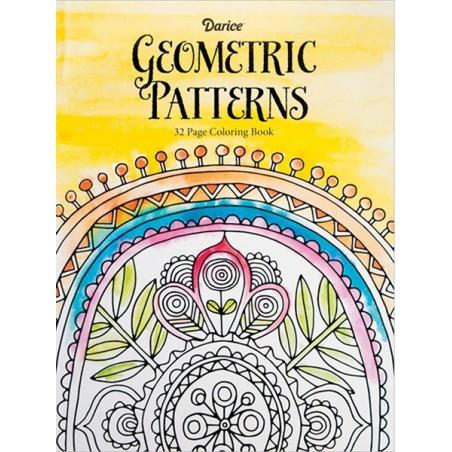 Kolorowanka dla dorosłych, Darice Coloring Book, Geometric Patterns