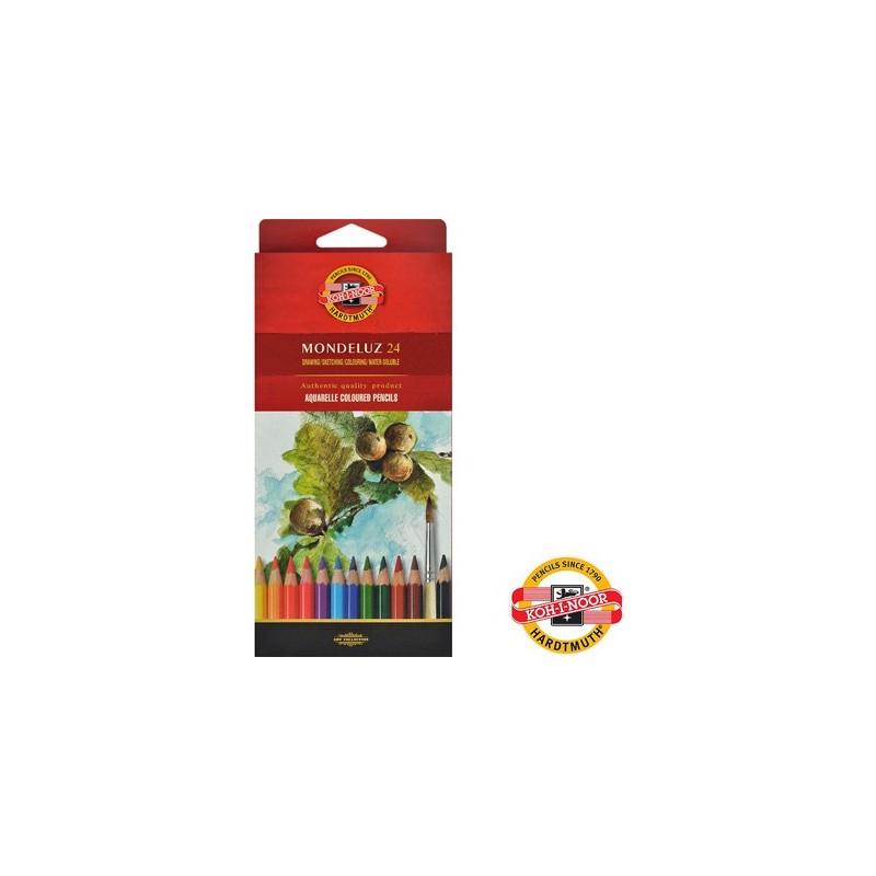 Kredki akwarelowe Mondeluz Koh-i-noor, 24 kolory