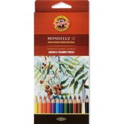 Kredki akwarelowe Mondeluz Koh-i-noor, 12 kolorów
