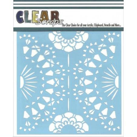 Szablon 15x15 cm, Clear Scraps Stencils, Doily
