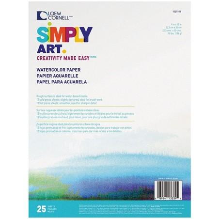 Blok do akwareli, Simply Art Watercolor Paper Pad 9x12