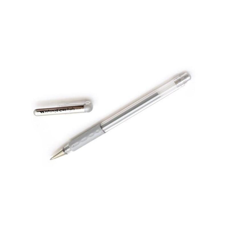Żelopis srebrny Hybrid Gel 0,8 mm Pentel
