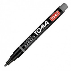 Marker olejowy srebrny z cieńką koncówką fine TOMA