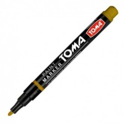 Marker olejowy złoty z cieńką koncówką fine TOMA