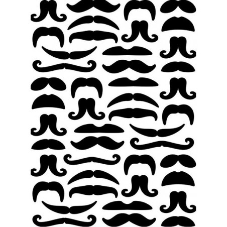 Folder do embossingu 1219-124 [Darice], Moustaches