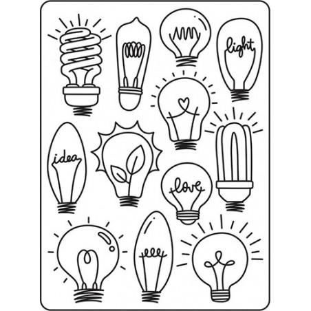 Folder do embossingu 30023116 [Darice], Light Bulbs Background