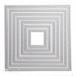Zestaw wykrojników DP Craft - przeszywane kwadraty