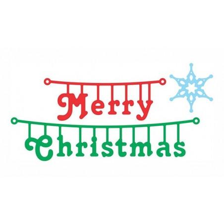 Wykrojnik Cheery Lynn, Merry Christmas Hanger B475 WYPRZEDAŻ