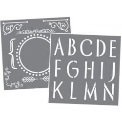 Zestaw szablonów z literami...