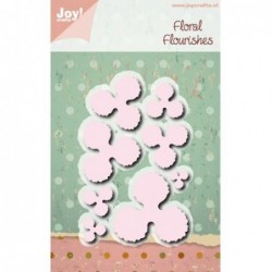 Wykrojnik Joy Crafts 6002/1082 płatki kwiatów - mix rozmiarów - do foamiranu
