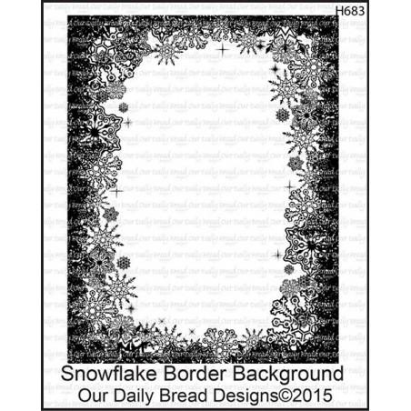 Stempel do scrapbookingu Our Daily Bread, Snowflake Border Background - ramka ze śnieżynkami