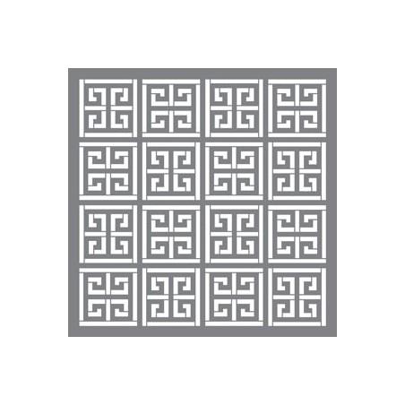 Szablon 30.5x30.5, Americana Decor Stencil, Greek Key [ADS25]