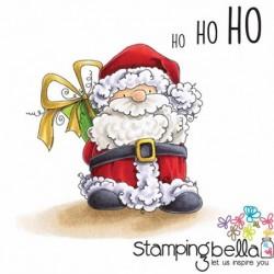 Stempel gumowy Stamping Bella, Mikołaj z prezentem