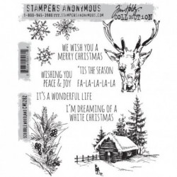 Stemple gumowe do scrapbookingu Stampers Anonymous, Scribble Woodland CMS282