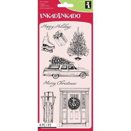 Stemple akrylowe Inkadinkado, Home For Christmas [60-31349]