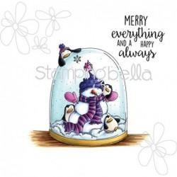 Stemple do scrapbookingu Stamping Bella, Merry Everything EB325 bałwanek