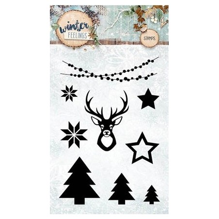 Stemple akrylowe Studio Light Winter Feelings STAMPWF236