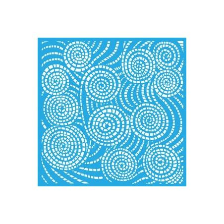 "Maska - szablon 12x12"", Americana Mixed Media Stencil, Segmented Swirls [ASMM29]"