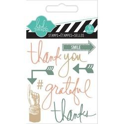 Stemple akrylowe, Heidi Swapp Mixed Media, Thank You - podziękowania