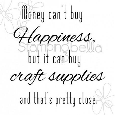 Stempel do scrapbookingu Stamping Bella, Money Can't Buy Happiness EB296 -