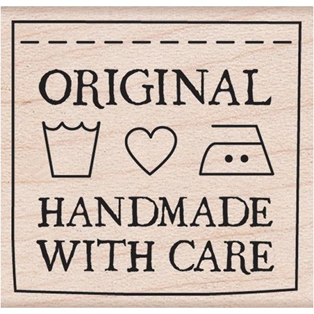 Stempel gumowy na drewnie, Hero Arts Mounted Rubber Stamp, Handmade With Care