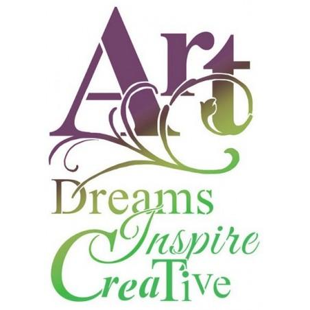 Maska - szablon 20x25 cm, Stamperia Thick Mix Media Stencil, Art Dreams [KSTD012]