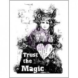 Stempel gumowy do scrapbookingu, Finnabair Wood Mounted Stamp, Trust The Magic 962227