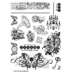 Zestaw stempli akrylowych HOTP 1145, On Butterfly Wings