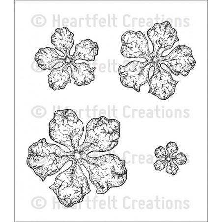 Stemple gumowe, Heartfelt Creations Cling Rubber Stamp, Open Vintage Floret
