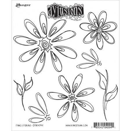 Stemple do scrapbookingu Dyan Reaveley's Dylusions, Fancy Florals