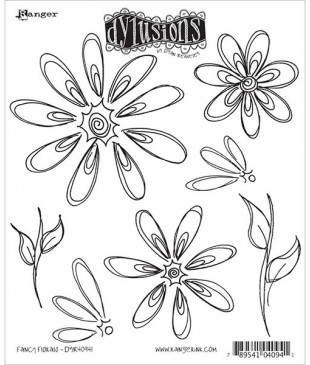 Stemple do scrapbookingu Dyan Reaveley's Dylusions, Fancy Florals