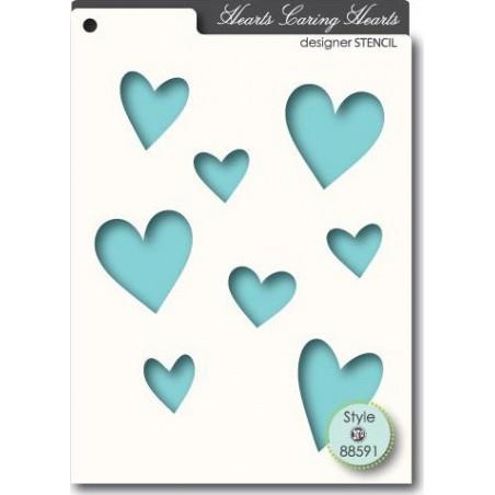 Szablon/maska Memory Box Stencil, Caring Hearts