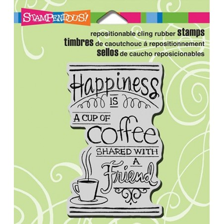 Stempel gumowy, Stampendous Cling Stamp, Shared Coffee [CRM308]