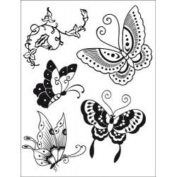 Stemple do scrapbookingu Stamperia WTKCC19, Motyle
