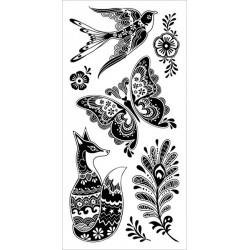 Stemple akrylowe Inkadinkado I6031258, Fancy Fauna
