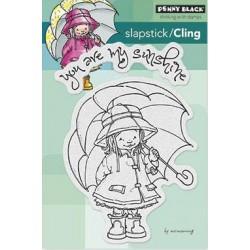 Stempel do scrapbookingu Penny Black, Sunshine - dziewczynka z parasolem