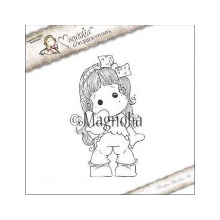 Stempel gumowy Magnolia, A Lovely Christmas Cling Stamp, Christmas Heart Tilda