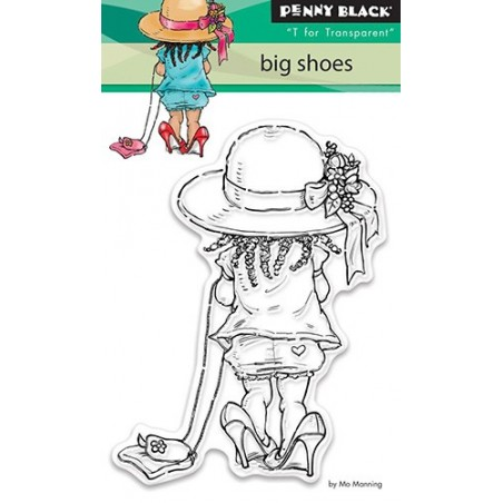 Stempel akrylowy, Penny Black Clear Stamps, Big Shoes