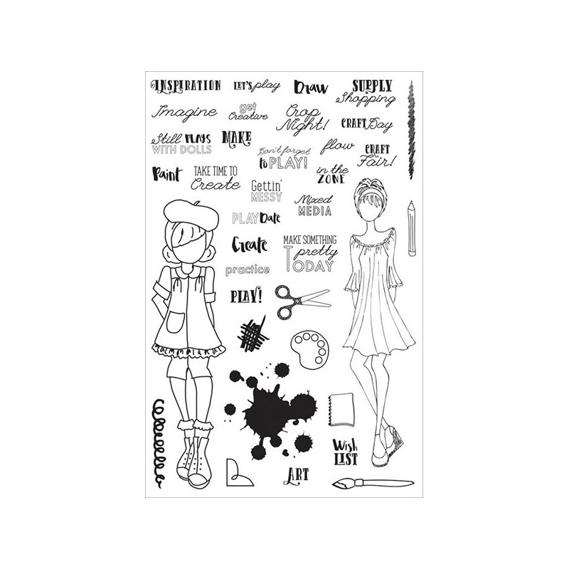 Stemple akrylowe do scrapbookingu Julie Nutting Planner, Craft Day 911683