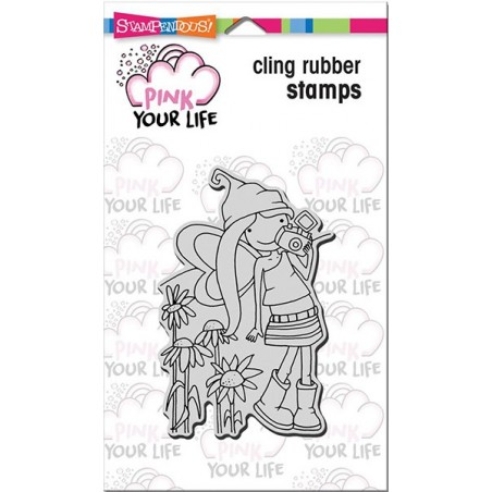Stempel gumowy, Stampendous Pink Your Life Cling Stamp, Whisper Friends - Camera Girl