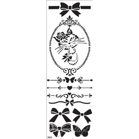 Szablon 32x11, Kot i kokardy [2241]