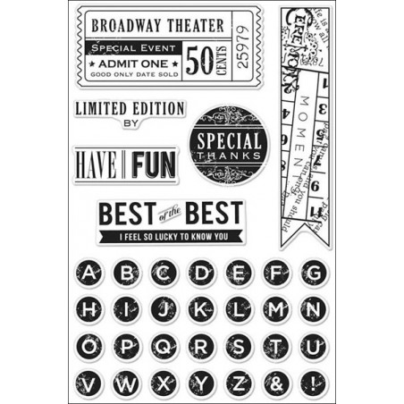 Zestaw stempli, Basic Grey Clippings Cling Stamps By Hero Arts, Best Of The Best