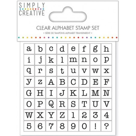 Stemple akrylowe z alfabetem - czcionka Typewriter