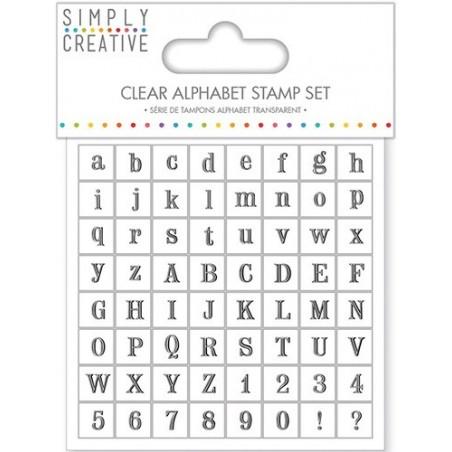Stemple akrylowe z alfabetem - czcionka Serif