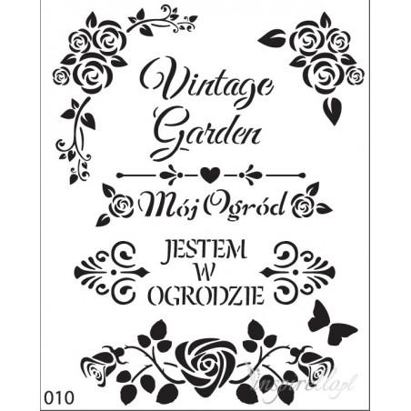 Szablon 20x25, Vintage Garden [0101]