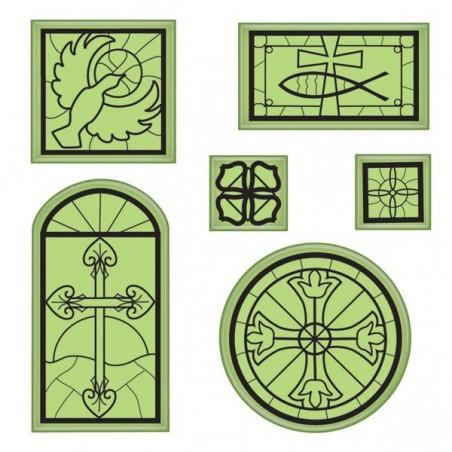Zestaw stempli gumowych, Inkadinkado Stamping Gear, Religious Icons